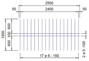 V 189 A voeg bouwstaalmat Ø5mm / Ø6mm | 2500 x 1300mm | 100 x 150