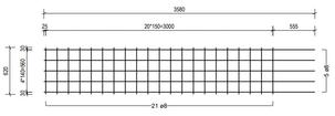 STR 620 strokenmat Ø8mm | 3580 x 620mm | 150 x 150
