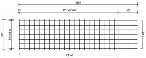 STR 920 strokenmat Ø8mm | 3580 x 920mm | 150 x 150