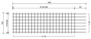STR 1020 strokenmat Ø8mm   3580 x 1020mm   150 x 150