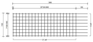 STR 1120 strokenmat Ø8mm | 3580 x 1120mm | 150 x 150