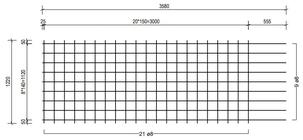 STR 1220 strokenmat Ø8mm | 3580 x 1220mm | 150 x 150