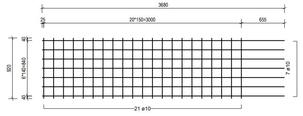 STR 920 strokenmat Ø10mm | 3680 x 920mm | 150 x 150