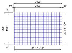 PS 503 A bouwstaalmat Ø8mm | 3 x 2 meter | 100 x 100