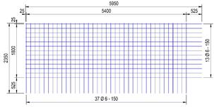 BEC 188 A bouwstaalmat Ø6mm | 5950 x 2350mm | 150 x 150