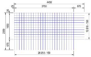 BEC 335 A bouwstaalmat Ø8mm | 4450 x 2350mm | 150 x 150