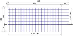 BEC 424 A bouwstaalmat Ø9mm | 6000 x 2400mm | 150 x 150