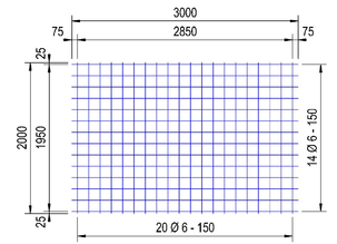 PS 188 A bouwstaalmat Ø6mm | 3 x 2 meter | 150 x 150