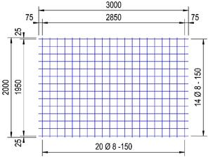 PS 335 A bouwstaalmat Ø8mm | 3 x 2 meter | 150 x 150