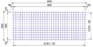 P 188 A bouwstaalmat Ø6mm | 5 x 2 meter | 150 x 150
