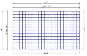 VVB 3100 vloerverwarmingsnet Ø3mm | 2100 x 1200mm | 100 x 100