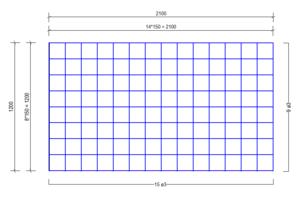 VVB 3150 vloerverwarmingsnet Ø3mm | 2100 x 1200mm | 150 x 150