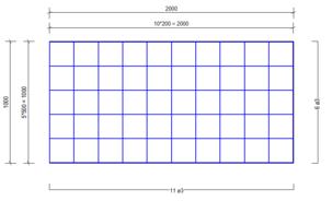 VVB 3200 vloerverwarmingsnet Ø3mm | 2000 x 1000mm | 200 x 200