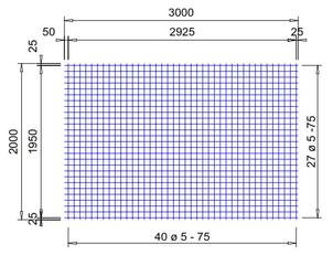 VS 262 verzinkte bouwstaalmat Ø5mm | 3 x 2 meter | 75 x 75