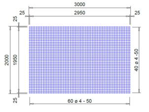 PS 252 A bouwstaalmat Ø4mm | 3 x 2 meter | 50 x 50