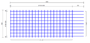 STR 1320 strokenmat Ø8mm | 3580 x 1320mm | 150 x 150