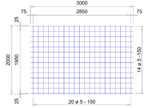 VS 130 verzinkte bouwstaalmat Ø5mm | 3 x 2 meter | 150 x 150