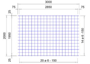 VS 188 verzinkte bouwstaalmat Ø6mm | 3 x 2 meter | 150 x 150