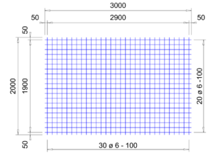 VS 283 verzinkte bouwstaalmat Ø6mm | 3 x 2 meter | 100 x 100