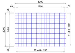 VS 335 verzinkte bouwstaalmat Ø8mm | 3 x 2 meter | 150 x 150