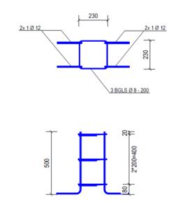 Poer (500x230x230 - D12)