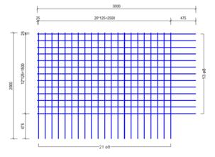 BS 402 A bouwstaalmat Ø8mm | 3000 x 2000mm | 125 x 125
