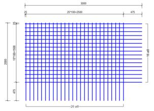 BS 503 A bouwstaalmat Ø8mm | 3000 x 2000mm | 100 x 100